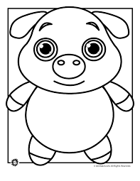 Cute Pig Coloring Page Woo Jr Kids Activities Pig Coloring Pages