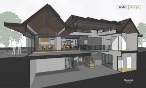 atrium ranch floor plans cut through house showing clerestory windows around covered atrium