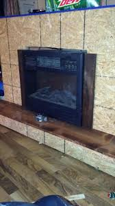 pallet fireplace with tv stand
