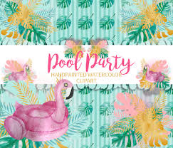 pool party clipart png illustrations creative market