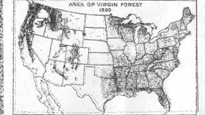 Old United States Map by Old Growth Forests United States 1620 1990 Youtube
