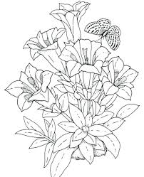 articles with printable flower garden coloring pages tag free