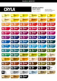 daler rowney cryla color chart acrylic paint color charts