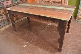furniture astonishing reclaimed teak dining table with carved