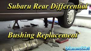 subaru differential bushing replacement how to youtube