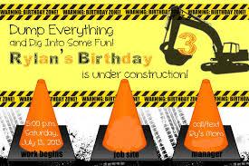 construction invitations free printable invitation design