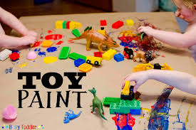 toy paint messy art activity busy toddler