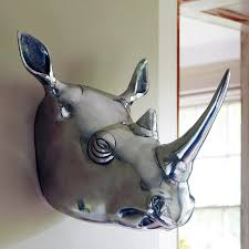 White Elephant Head Wall Mount Let U0027s Stay Decorative Faux Animal Heads For Your Home