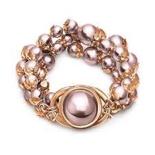 gold pearl bracelet images Grace rose gold plated pink gray pearl bracelet folli follie jpg