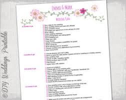 Wedding Decor Checklist Wedding To Do List Etsy