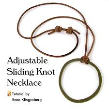 knot tie necklace images Adjustable sliding knot necklace tutorial jewelry making journal jpg