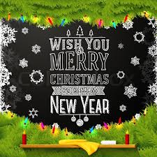 wish you a merry and happy new year message written on
