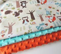 woodland animals baby bedding baby blanket ready to ship aqua forest animal minky blanket