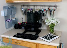 Kitchen Desk Organization Organized Kitchen Office Makeover Hometalk