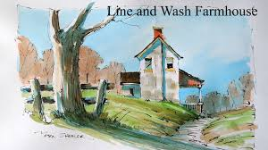 loosen up your line and wash watercolor techniques paint a
