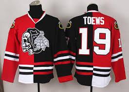 blackhawks 19 toews split hockey jerseys fashion hockey wears red