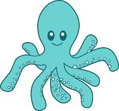 cute blue octopus clipart free clip art