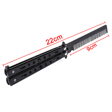 butterfly comb new black metal practice balisong butterfly comb knifes trainer
