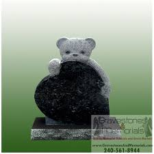 headstones for babies sd 5339 baby teddy headstone gravestones and memorials