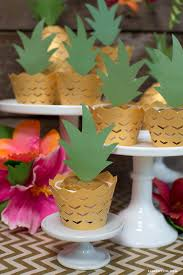 pineapple cupcake decorations pineapple cupcakes summer parties