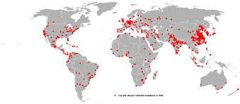 world cities on map map of world cities with a population 1 000 000