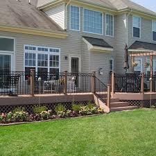 low maintenance composite deck design archadeck outdoor living