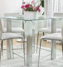Silver Dining Room Set by Richfield I Silver Counter Height Dining Table From Furniture Of