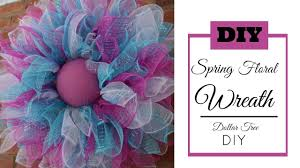 deco mesh spring wreath tutorial dollar tree diy easter wreath