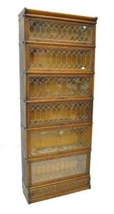 Shelves With Glass Doors by Furniture Oak Barrister Bookcase With Glass Doors 6 Shelves Lift