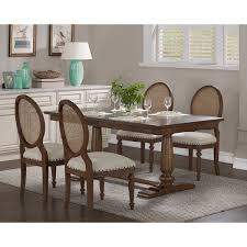 overstock dining room tables the gray barn farmhouse oak pedestal dining table free shipping