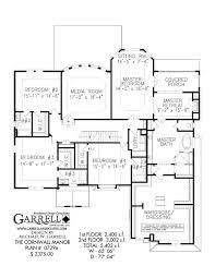 Two Floor House Plans by Cornwall Manor House Plan Covered Porch Plans