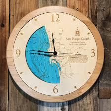 san diego ca 3 d nautical wood clock 17 5