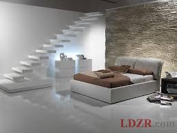 fancy italian minimalist bedroom idea with sandstone walls and