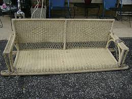 rare original 6 ft antique 1930 u0027s wicker porch swing 3 seater