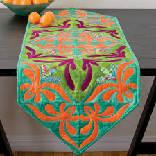 the attractive and beautiful table runner patterns wigandia