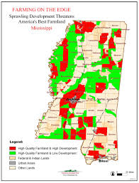 Mississippi State Map Farming On The Edge American Farmland Trust