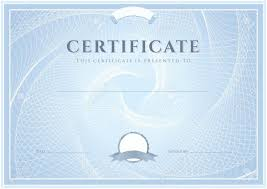 certificate diploma of completion design template background