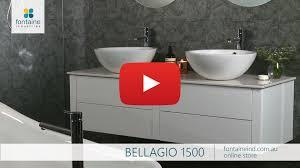 bellagio bathroom vanity large twin bowl stone top floating 1500