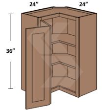 scw2436 shaker rta maple brandywine square corner wall cabinet