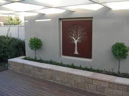 decorations unique garden with modern design using white outdoor