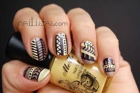 imagenes de uñas decoradas con konad tribal print nails motivos tribales para las uñas nailistas