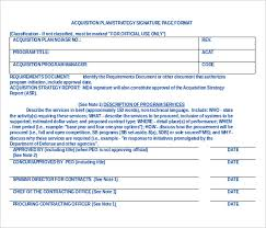 acquisition plan template 15 acquisition strategy templates free sle exle format
