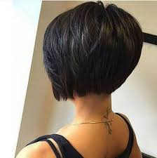 pictures of back of hair short bobs with bangs 30 layered bob haircuts for weightless textured styles