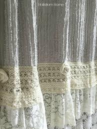 Country Chic Shower Curtains Diy Shabby Chic Shower Curtain Tutorial Lace Shower Curtains