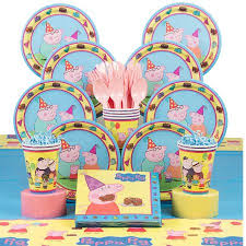 peppa pig birthday supplies peppa pig birthday party deluxe tableware kit serves 8 party