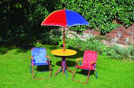 children s outdoor table and chairs kids children s picnic garden parasol umbrella folding patio table