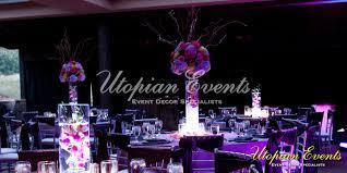 purple wedding centerpieces floral design services floral design gallery utopian events