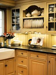 english country kitchen ideas this country kitchen has a carved hutch with glass door cabinets