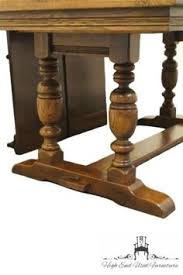 Ethan Allen Console Table Ethan Allen Royal Charter Oak Long Flip Top Console Table Royal