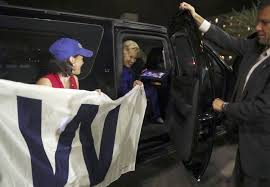 Chicago Cubs Flags Clinton Celebrates Hometown Chicago Cubs Win Nbc News